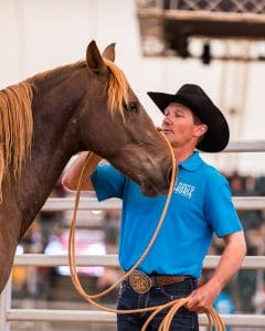 TWOTH competitor with his brumby